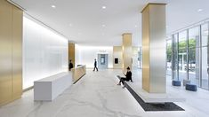 Gensler updated the early 1980s lobby and exterior plaza of First Central Tower to create a contemporary sequence of spaces that qualify the...