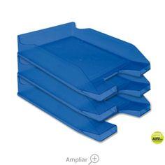 BANDEJA SOBREMESA PLASTICO Q-CONNECT AZUL TRANSPARENTE Flatware, Tray, Dessert Tray, See Through, Trays, Blue Nails, Cutlery, Tablewares