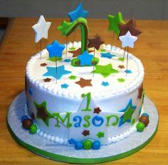 boys 1st birthday cake and smash cake