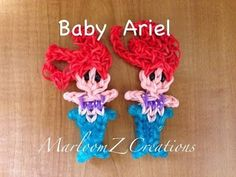 Rainbow Loom BABY ARIEL. Designed and loomed by MarloomZ Creations. Click photo for YouTube tutorial. 04/26/14.