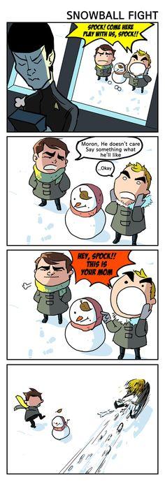 ST - Snowball fight by simengt.deviantart.com on @DeviantArt