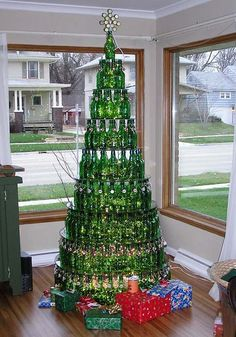 Beer Bottle Christmas tree (I may do just the top 3 or 4 tiers)!!!
