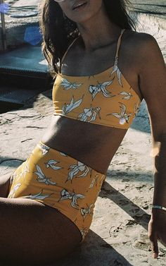 Katie High Rise Cheeky Bottom by CAMP COVE for Preorder on Moda Operandi