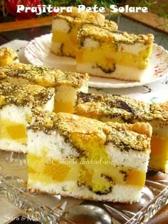 prajitura-pete-solare-0 Romanian Desserts, Romanian Food, Romanian Recipes, My Recipes, Cake Recipes, Dessert Recipes, Good Food, Yummy Food, Sweet Pastries