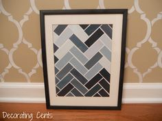 chevron paint chip art