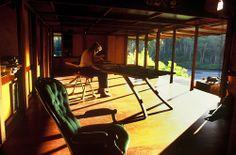 Richard Leplastrier - Lovett Bay house,Sydney 1994. Via.
