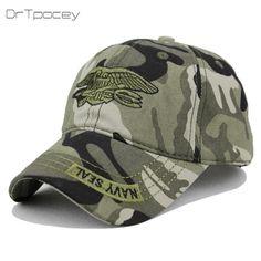 Navy Seal Cap Top Quality Army green Snapback Caps Hunting Fishing Hat  Outdoor Camo Baseball Caps Adjustable Tactical Cap Gorras. 3966d9c890f