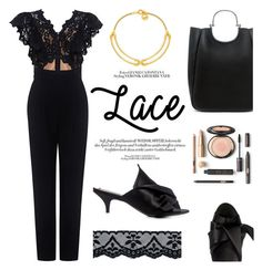 """""""Pretty in lace"""" by ifchic ❤ liked on Polyvore featuring Rebecca Taylor, N°21, 10 Crosby Derek Lam, Giles & Brother and contemporary"""