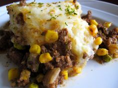 I've tried a lot of different Shepherd's Pie recipes, but this is the one I keep coming back to. Printable Recipe 1 1/2 pounds extra-lean ground beef 1 cup chopped yellow onions 2 teaspoons minced garlic 1 teaspoon paprika1/2 teaspoon dried thyme1 cup frozen peas-and-carrots blend1 cup frozen or canned corn2/3 cup reduced-sodium beef broth2 …
