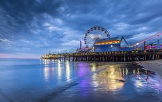Drive West on Sunset to the Sea... | If its overcast in LA & there's no sunset at Santa Monica you can always have fun with blue hour reflections in the sand