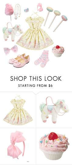 """""""Angelic Pretty Sweet Lolita"""" by sweetpasteldream ❤ liked on Polyvore featuring Cotton Candy"""