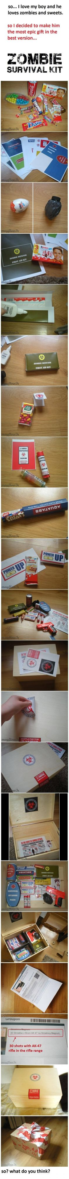 """candy zombie survival kit..."""":')"""