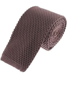 Mens Basic Solid Square End Knit Tie Necktie Extra Long Ties, Slim Tie, Skinny Ties, Jacquard Weave, Women's Accessories, Mens Fashion, Knitting, Pocket Squares, Neckties