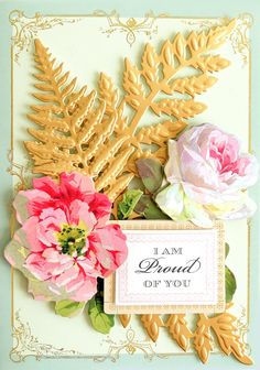 Anna Griffin® Fern Cut and Emboss Dies - 9103222 Best Friend Birthday Cards, Cute Birthday Cards, Handmade Birthday Cards, Handmade Cards, Anna Griffin Inc, Anna Griffin Cards, Card Making Kits, Making Ideas, Easel Cards