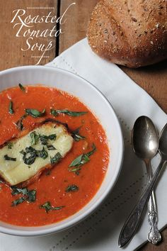 Perfect Roasted Tomato Soup - suitable for Dr. Oz's 2 Week Rapid Weight Loss Diet (sub Greek yogurt for cream serve with a green salad instead of cheese and bread) Roasted Tomato Soup, Roasted Tomatoes, Quick Weight Loss Diet, How To Lose Weight Fast, Vinegar Weight Loss, Low Fat Diets, Medical Weight Loss, Weight Loss Shakes, Best Diets