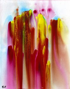 Abstract Multi-Colored Watery Painting With Tempera by Creative108