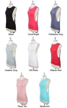 Muscle Tee Cut Out Back Blouse Twist Drape Tank Top T Shirt Oversize Open Plunge | eBay