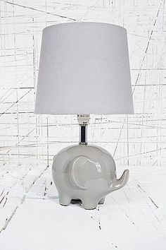 Elephant Lamp EU Plug In Grey   Urban Outfitters