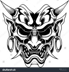 Find Ronin Evil Devil Samurai Vector Illustration stock images in HD and millions of other royalty-free stock photos, illustrations and vectors in the Shutterstock collection. Thousands of new, high-quality pictures added every day. Hannya Maske Tattoo, Oni Tattoo, Hanya Tattoo, Dark Tattoo, Samurai Warrior Tattoo, Warrior Tattoos, Samurai Art, Torso Tattoos, Body Art Tattoos