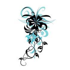 tatouage sur l'epaule la fleur sur le devant et le reste qui rejoins le second sur ma nuque