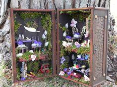 Box fairy house. Charming giftfairy garden fairy by TinkerWhims