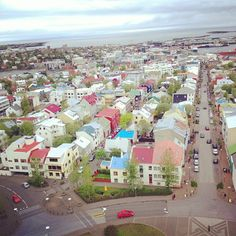 Colorful little houses in Reykjavik #iceland