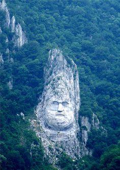 "antiopia: "" Statue of Decebalus1 by pensivelaw1 "" Golubac, Serbia."