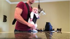 We can't stop watching this adorable video of a dad and baby dancing to Michael Jackson.