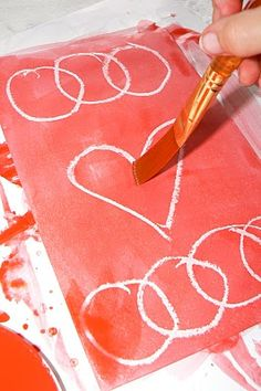 cute secret valentines. recipient has to paint inside to discover who it came from