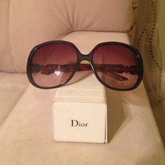 Authentic Dior Sunglasses! Dark navy blue and caramel shades. Still in great condition. Minor wear. Beautiful on! Only selling because I have collected too many shades. Dior Accessories Sunglasses