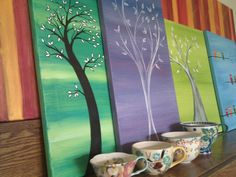Tree paintings by Heather Cash