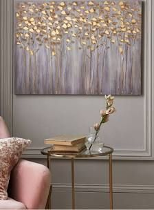 39 Beautiful Diy Canvas Painting Ideas For Your Home Shutterfly Tree Cream And Gold Living Room
