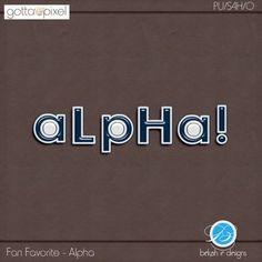Fan Favorite - Digital scrapbook alpha. Free at Gotta Pixel. www.gottapixel.net/