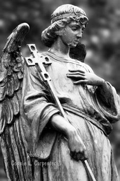 St Hugo Church, Bloomfield Hills, MI.  Grounds angel
