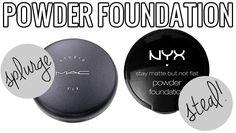 makeup dupes, Splurge / Steal Beauty Powder Foundation, MAC Studio Fix v.s NYX Stay Matte but Not Flat