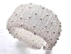 silver plated wire crochet bracelet  bridal by LucianaJewelry, £26.00