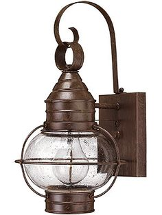 Exterior Antique Lighting. Cape Cod Small Entry Sconce With Clear Seedy Glass