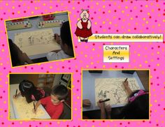Great idea collaborative drawing of the various settings in the three little pigs