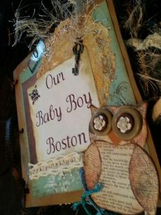 Shop with me poshcreations1.etsy #scrapbooking owls kids crafts paper baby boy pregnancy albuns paper bag