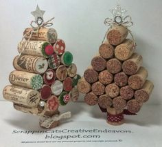 Craft Christmas Part 5: Wine cork Christmas Trees. Great decoration for restaurant/bar or home decoration for the holidays.