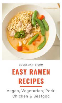 Cooking Formula: Ramen   With our easy ramen recipes, you can make delicious homemade ramen with simple ingredients (and even leftovers) you have on hand! Whether you prefer your noodles vegan, vegetarian, or with chicken or pork, you'll find countless ways to suit your taste with our ramen cooking formula. Enjoy!   CookSmarts.com Ramen Recipes, Asian Recipes, Recipies, Cooking On A Budget, Cooking Tips, Healthy Cooking, Healthy Dinner Recipes, Homemade Ramen, Cook Smarts