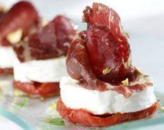 Tomates confitados con queso de cabra y cecina: trío de ases   El Palillo Leonés. Las tapas de León... a debate