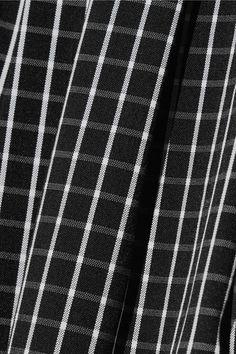 Michael Kors Collection - Checked Cotton-blend Poplin Midi Dress - Black - US14