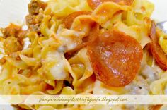 Pampered Daughter Thrifty Wife: Pizza Casserole Recipe