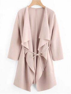 To find out about the Waterfall Collar Pocket Front Wrap Coat at SHEIN, part of our latest Outerwear ready to shop online today! Look Fashion, Autumn Fashion, Fashion Clothes, Fashion Dresses, Fashion Black, Trendy Fashion, Fashion Ideas, Vintage Fashion, Trendy Outfits