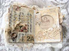 Handmade Vintage Journal Keepsake Heirloom Junk by ShabbySoul