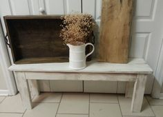 farmhouse bench by whitepinecrafters on Etsy, $100.00