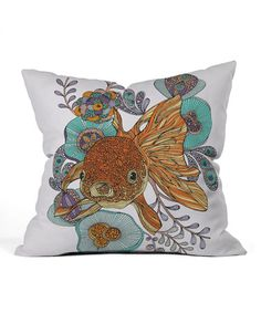 Love this White Little Fish Throw Pillow by DENY Designs on #zulily! #zulilyfinds