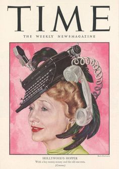 1947 Time magazine cover featuring Hedda Hopper