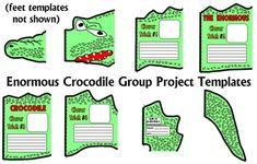 The Enormous Crocodile Fun Group Book Report Project Templates Roald Dahl